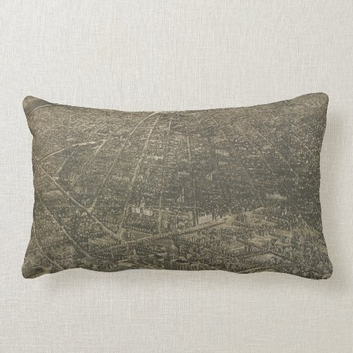 Vintage Pictorial Map of Denver Colorado (1887) Pillow