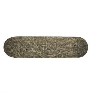 Vintage Pictorial Map of Denver Colorado (1887) Skateboard Decks