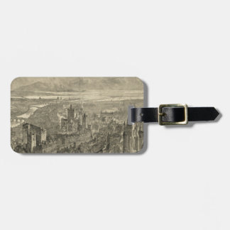 Vintage Pictorial Map of Dublin Ireland (1890) Luggage Tags