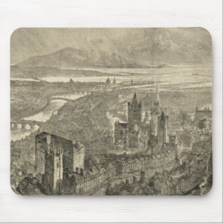 Vintage Pictorial Map of Dublin Ireland (1890) Mouse Pad