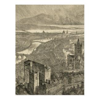Vintage Pictorial Map of Dublin Ireland (1890) Postcard