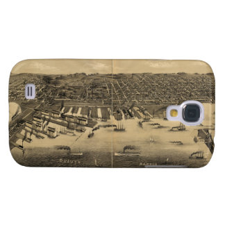 Vintage Pictorial Map of Duluth Minnesota (1887) Galaxy S4 Cover