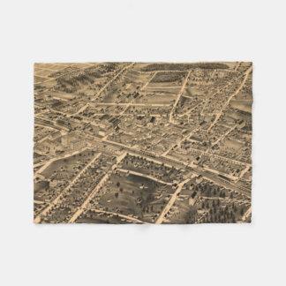Vintage Pictorial Map of Durham NC (1891) Fleece Blanket