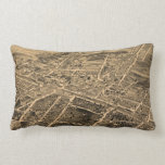 Vintage Pictorial Map of Durham NC (1891) Pillows