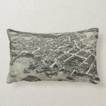 Vintage Pictorial Map of Edgartown MA (1886) Throw Pillows