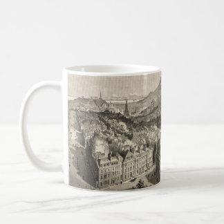 Vintage Pictorial Map of Edinburgh Scotland (1886) Coffee Mug