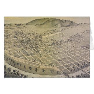 Vintage Pictorial Map of El Paso Texas (1886) Card