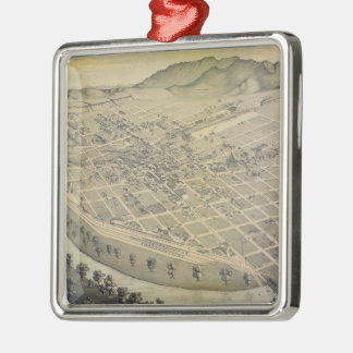 Vintage Pictorial Map of El Paso Texas (1886) Metal Ornament