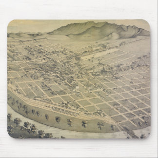 Vintage Pictorial Map of El Paso Texas (1886) Mouse Pad
