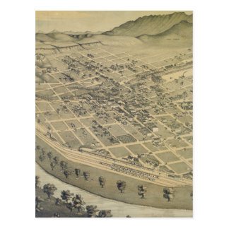Vintage Pictorial Map of El Paso Texas (1886) Postcard
