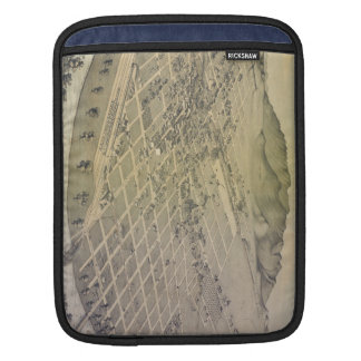 Vintage Pictorial Map of El Paso Texas (1886) Sleeves For iPads