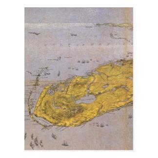 Vintage Pictorial Map of Florida (1861) Postcard