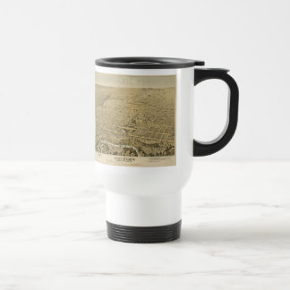 Vintage Pictorial Map of Fort Worth Texas (1876) Travel Mug