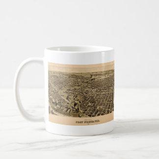Vintage Pictorial Map of Fort Worth TX (1891) Coffee Mug