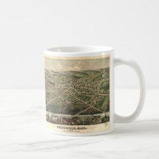 Vintage Pictorial Map of Foxborough MA (1879) Coffee Mug
