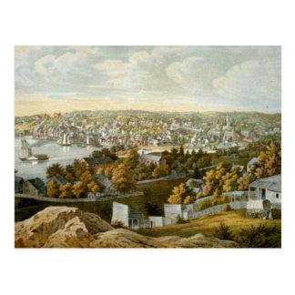Vintage Pictorial Map of Georgetown (1855) Postcard