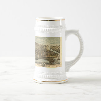 Vintage Pictorial Map of Grand Haven MI (1874) Coffee Mugs