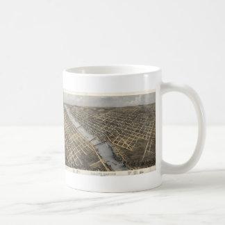 Vintage Pictorial Map of Grand Rapids (1868) Coffee Mug