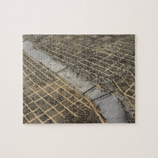 Vintage Pictorial Map of Grand Rapids (1868) Jigsaw Puzzle