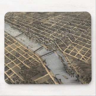 Vintage Pictorial Map of Grand Rapids (1868) Mouse Pad