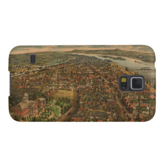 Vintage Pictorial Map of Harrisburg PA (1855) Galaxy S5 Cover