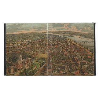 Vintage Pictorial Map of Harrisburg PA (1855) iPad Case