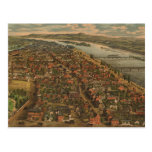 Vintage Pictorial Map of Harrisburg PA (1855) Post Card