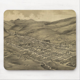 Vintage Pictorial Map of Helena Montana (1875) Mouse Pad
