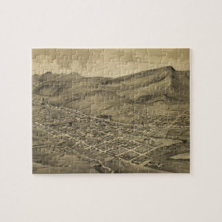 Vintage Pictorial Map of Helena Montana (1875) Jigsaw Puzzles