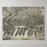 Vintage Pictorial Map of Hoboken NJ (1904) Posters