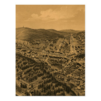 Vintage Pictorial Map of Hot Springs AR (1888) Postcard