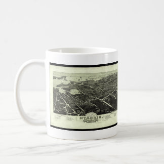 Vintage Pictorial Map of Hyannis MA (1884) Coffee Mug