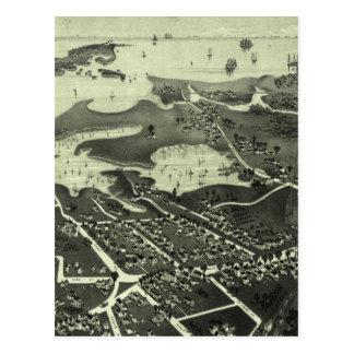 Vintage Pictorial Map of Hyannis MA (1884) Postcard