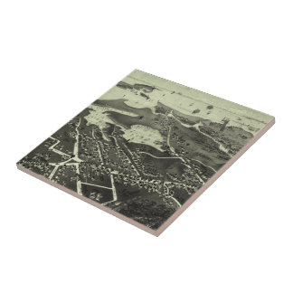 Vintage Pictorial Map of Hyannis MA (1884) Tile