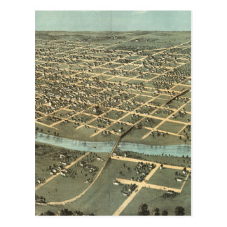 Vintage Pictorial Map of Iowa City (1868) Postcard