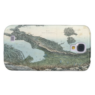 Vintage Pictorial Map of Italy (1853) Samsung S4 Case