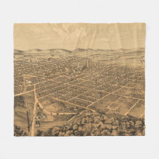 Vintage Pictorial Map of Kalamazoo Michigan (1874) Fleece Blanket