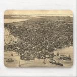 Vintage Pictorial Map of Key West FL (1884) Mouse Pad