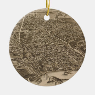 Vintage Pictorial Map of Knoxville (1886) Ceramic Ornament