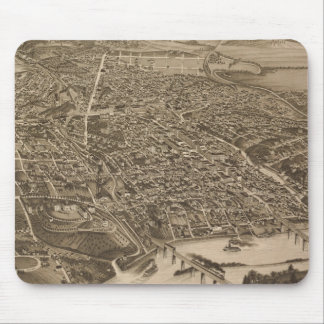 Vintage Pictorial Map of Knoxville (1886) Mouse Pad