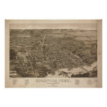 Vintage Pictorial Map of Knoxville (1886) Poster