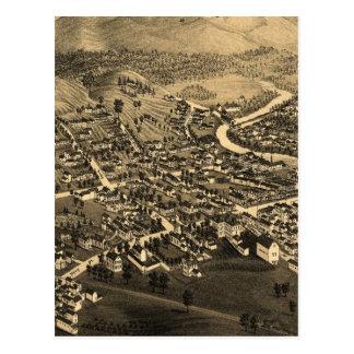 Vintage Pictorial Map of Lancaster NH (1883) Postcard