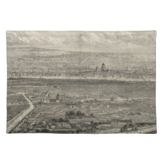 Vintage Pictorial Map of London England (1861) Cloth Placemat