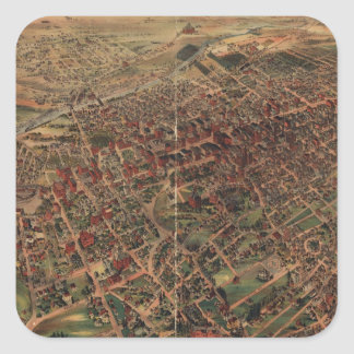 Vintage Pictorial Map of Los Angeles (1891) Square Sticker