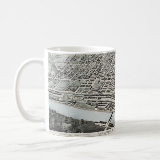 Vintage Pictorial Map of Manchester NH (1876) Coffee Mug