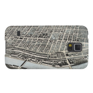 Vintage Pictorial Map of Manchester NH (1876) Galaxy S5 Case
