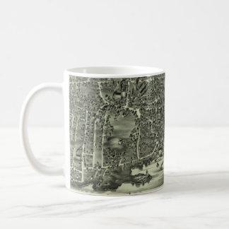 Vintage Pictorial Map of Marblehead MA (1882) Coffee Mug