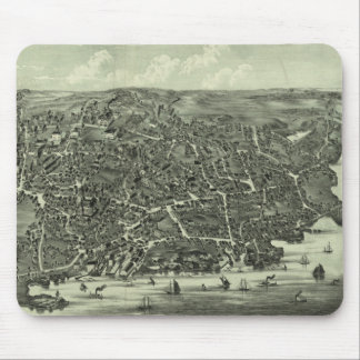 Vintage Pictorial Map of Marblehead MA (1882) Mouse Pad