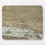 Vintage Pictorial Map of Memphis Tennessee (1870) Mouse Pad