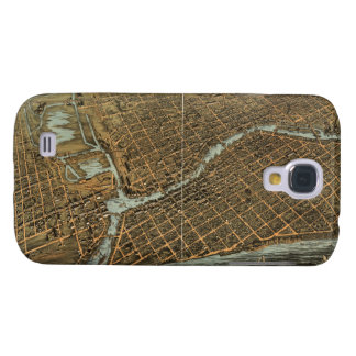 Vintage Pictorial Map of Milwaukee (1872) Samsung Galaxy S4 Cover